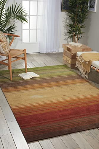 Nourison Contour Harvest Rectangle Area Rug, 8-Feet by 10-Feet 6-Inches 8 x 10 6
