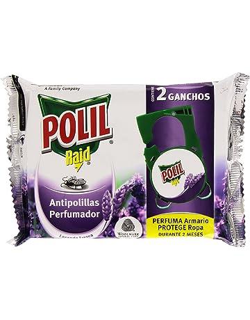 Polil Raid Antipolillas Perfumador - Ganchos insecticidas para armarios, Lavanda Fresca