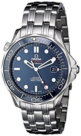 Omega Mens O21230412003001 Seamaster Analog Display Automatic Self Wind Silver Tone Watch