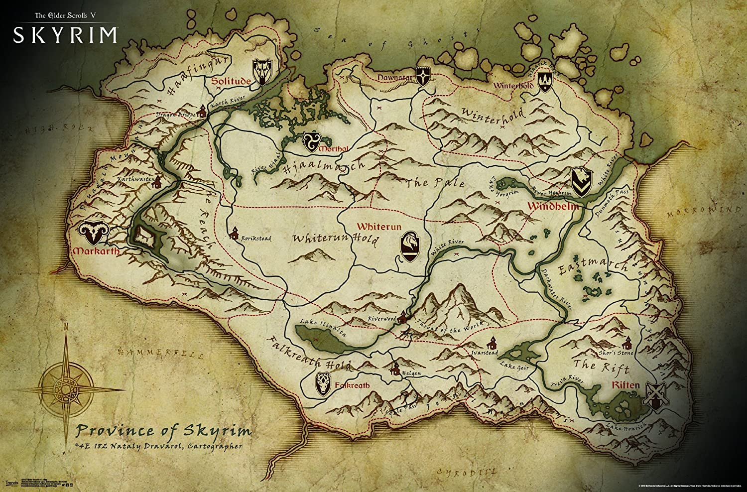 Image result for skyrim map