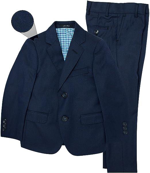 Amazon.com: t.o. colección niños traje azul marino (Slim ...