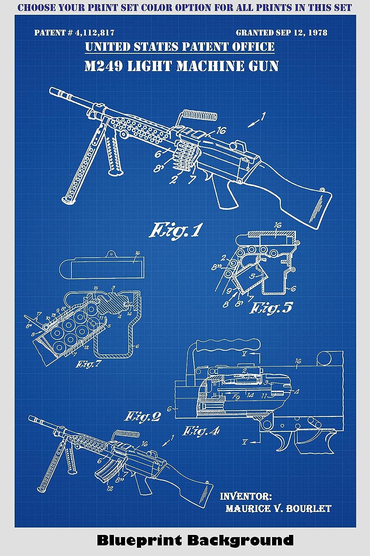 Amazon.com: Machine Guns - M240, M249, AR-15, Garand - Wall Decor ...