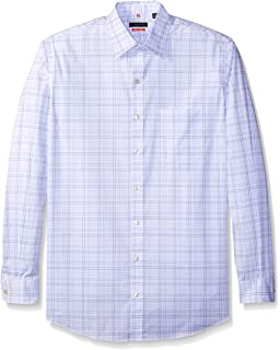 Van Heusen Mens Big and Tall Traveler Stretch Long Sleeve Button Down Blue//White//Purple Shirt