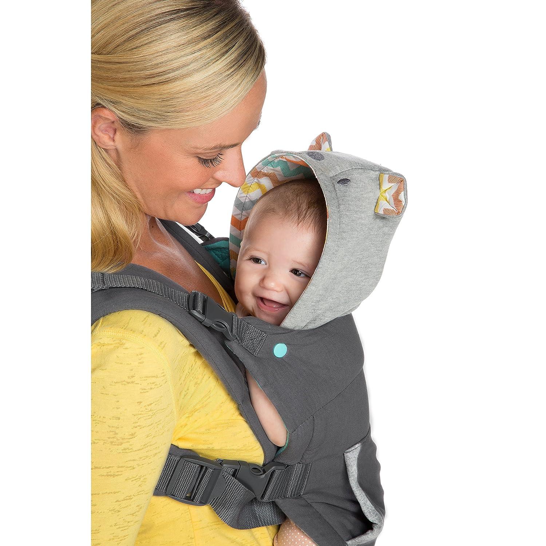 Amazon Com Infantino Cuddle Up Ergonomic Hoodie Carrier Grey Baby