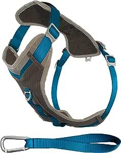 Kurgo Journey ™ Multi-Use Dog Harness, Reflective Harness, Dog Running Harness, Dog Walking Harness, Dog Hiking Harness, Blue/Grey, Small