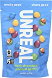 UNREAL Vegan, Non-GMO Dark Chocolate Peanut Gems - 6 Bags