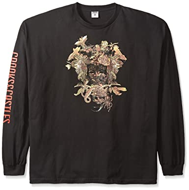 ca8697c5 Crooks & Castles Men's Big and Tall Knit Long Sleeve T-Shirt-Wild Medusa  OS, Black, 4X-Large: Amazon.in: Clothing & Accessories