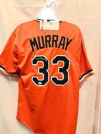 0969da81df9 Eddie Murray Baltimore Orioles Signed Autograph Orange Custom Jersey JSA  Witnessed Certified