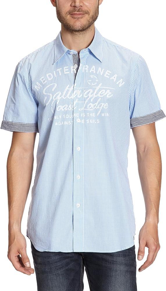 LERROS - Camisa de Manga Corta para Hombre, Talla 50, Color Azul Claro 449: Amazon.es: Ropa y accesorios
