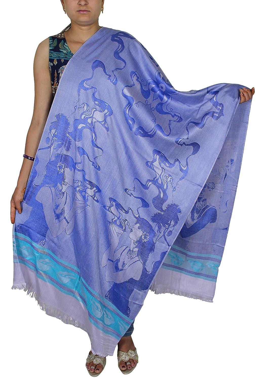 Women Scarf Fashion Accessory Stole -Girls Print Cashmere Viscose Scarf