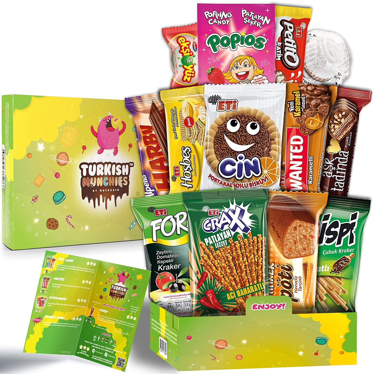Midi Energetic Premium International Snacks Variety Pack Care Package for Adults and Kids, Ultimate Assortment of Turkish Treats, Mix variety pack of snacks, Best Foreign Candy or Foreign Snacks Box