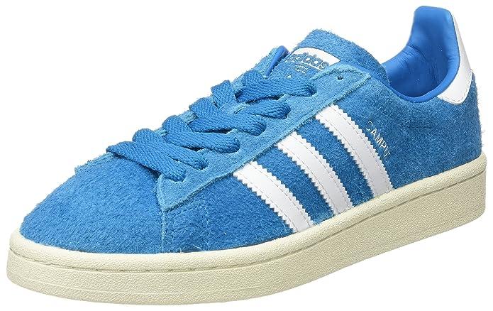 Blaue Herren adidas Campus Schuhe mit weißen Streifen (Bold Aqua)
