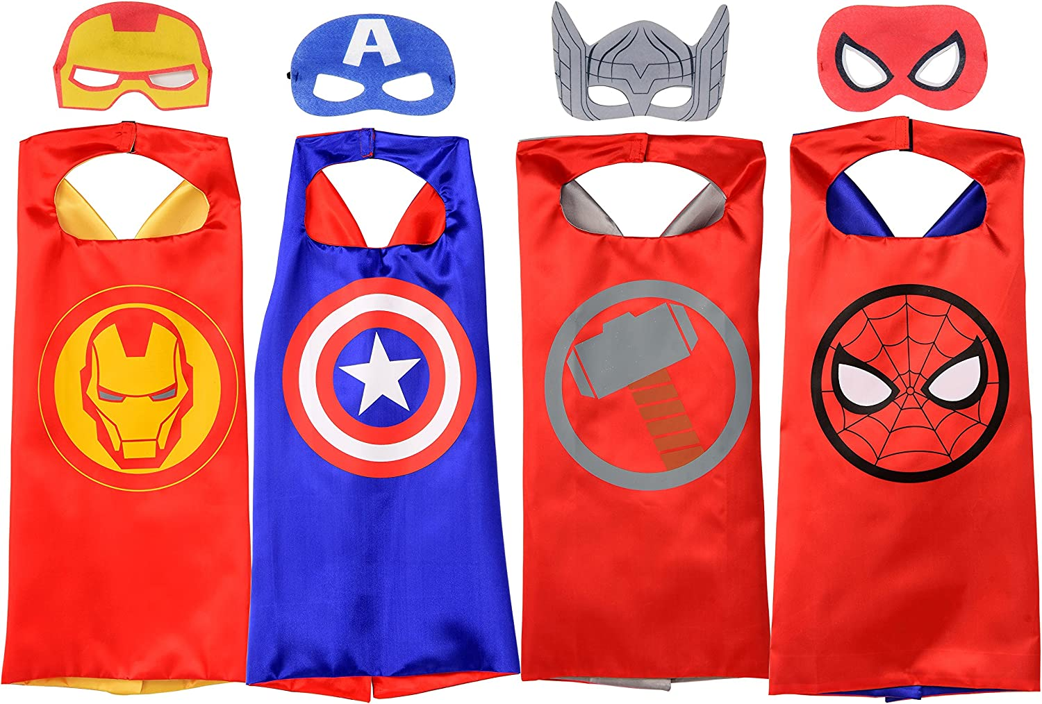 Rubie's Marvel Super Hero Cape Set, Officially Licensed 4 Capes and 4 Masks Assortment (Amazon Exclusive)