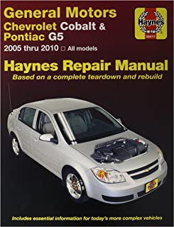 general motors chevrolet cobalt pontiac g5 2005 2010 repair manual rh amazon com 2009 chevrolet cobalt lt owners manual 2008 chevy cobalt lt owners manual