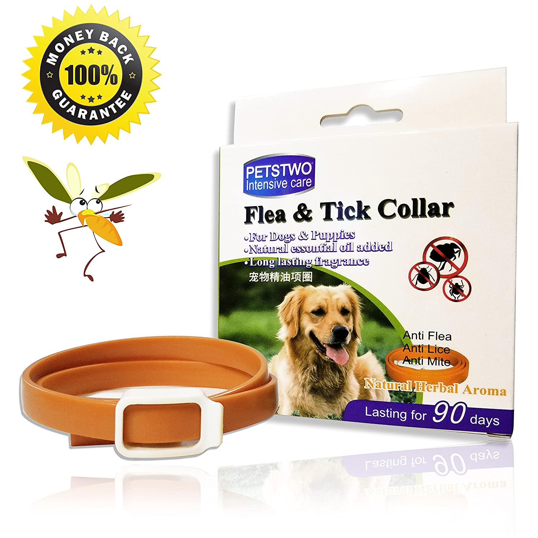 X-cool Collar antiparasitario para Perros Gatos, Natural Botanical impermeable Collar de Pulgas y Garrapatas 90 dias 50 cm para gato mediano grande pequeño ...