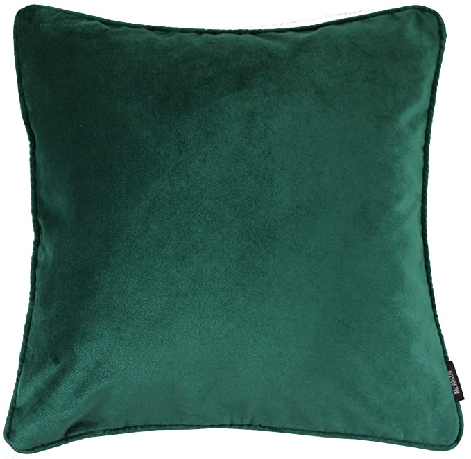 "Mc Alister Matt Velvet | Extra Large Pillow Cover Case | 24x24"" Emerald Pine Green 