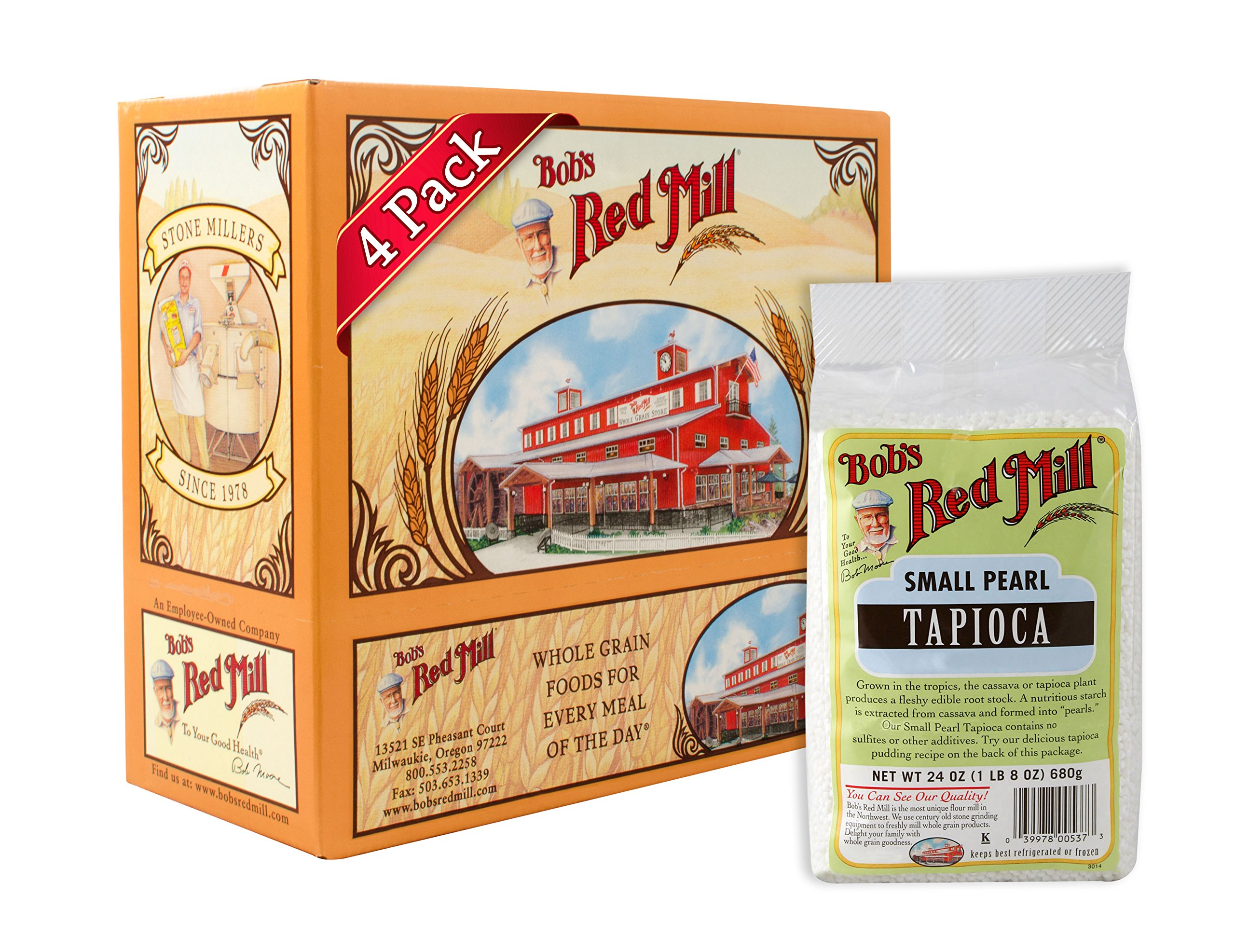 Bob's Red Mill Tapioca, Small Pearl, 24 Ounce Units (Pack of 4)
