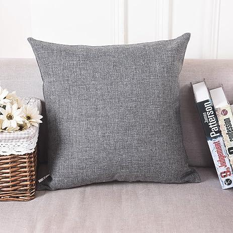 Amazon Home Brilliant Decoration Linen Euro Throw Pillow Sham