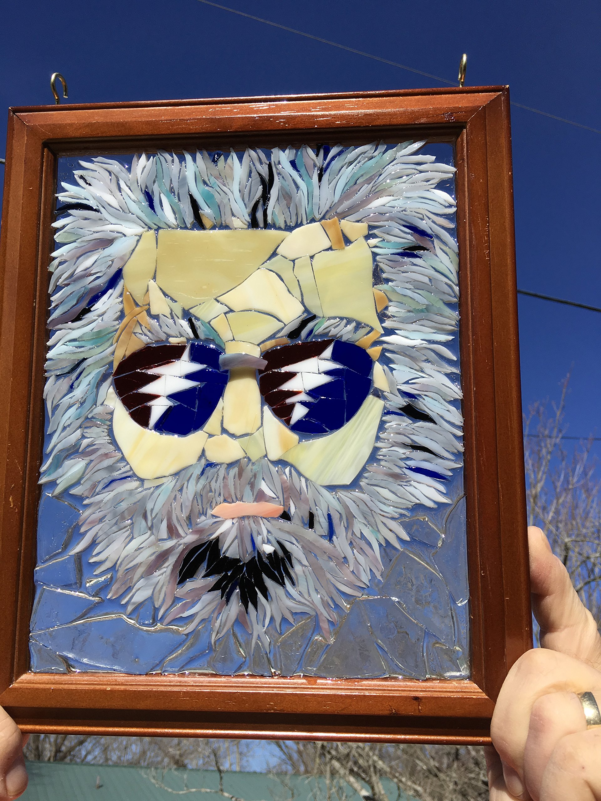 Jerry Garcia Stained Glass Window Art Sun Catcher, Grateful Dead