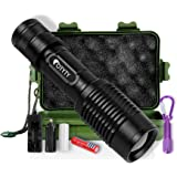 LED Tactical Flashlight, OTYTY E7 1000 Lumen High Powered Super Bright Portable Handheld Rechargeable Flashlights Torch include Mini Keychain Flashlight