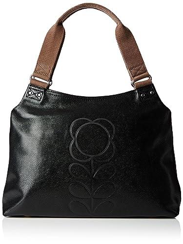 Classic Zip Shoulder Leather, Damen Tasche Orla Kiely