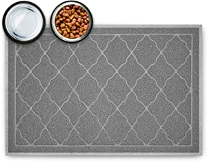 Tosenway Pet Feeding Mat for Food and Water Flexible and Waterproof Dog Food Mat for Large Dogs and Cats, 35