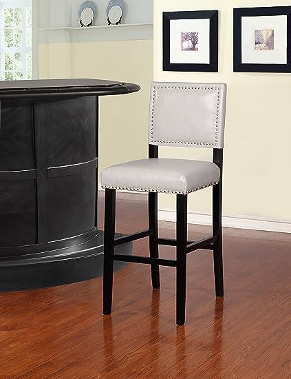 Super Amazon Com Linon Blake Bar Stool In Black Kitchen Dining Short Links Chair Design For Home Short Linksinfo