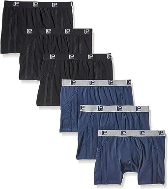 TALLA XL. Lower East Calzoncillos bóxer retro de hombre, elásticos y ajustados, set de 6