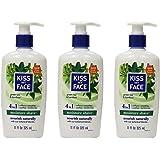 Kiss My Face Moisture Shave Shaving Cream, Green Tea & Bamboo Shaving Soap, 11 oz (Pack of 3)