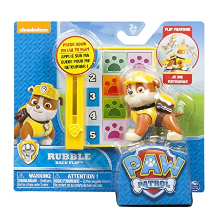 Amazoncom Paw Patrol Action Pack Pup Badge Rubble Toys Games