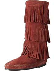 69b51cc4b Minnetonka Women s 3-Layer Fringe Boot