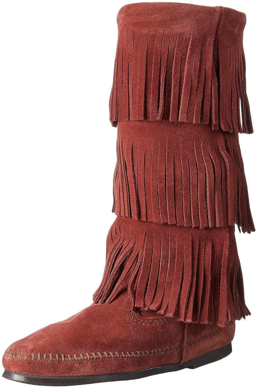Minnetonka 3-Layerfringeboot, Mocasines para Mujer: Amazon.es: Zapatos y complementos