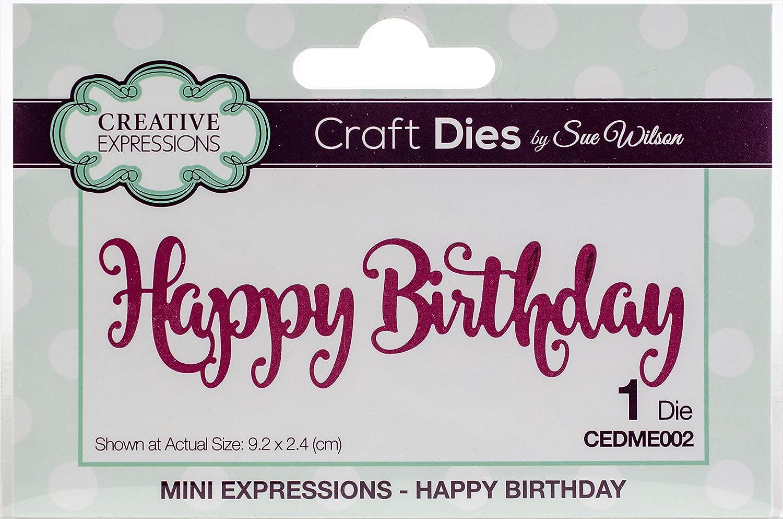 Craft Dies by Sue Wilson Creative Expressions Shadowed Happy Birthday CEDSS009