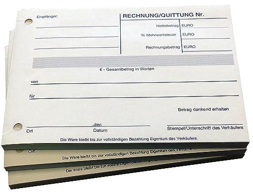 Block - Cuaderno de recibos - Por bloque 100 hojas DIN A6 - perforadas - (22297), color weiß: Amazon.es: Oficina y papelería
