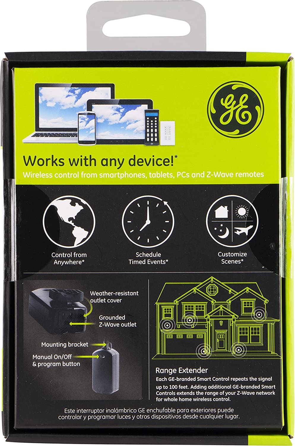 ge 45604 wave. GE 45604 ZWave Technology Outdoor Module For Lighting Control Black Switches U0026 Dimmers Amazon Canada Ge Wave