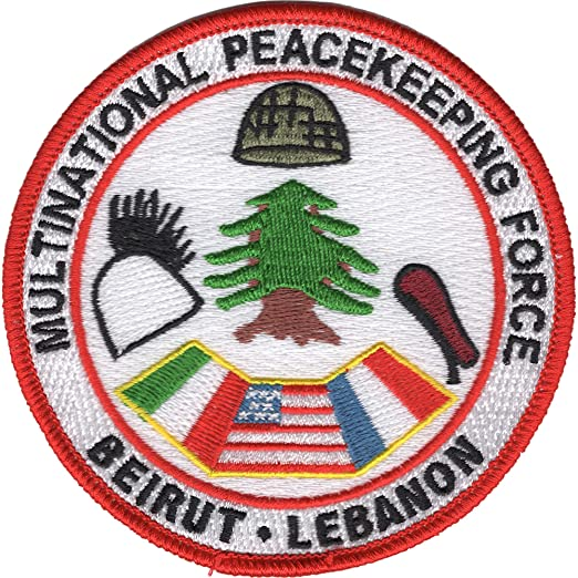 Amazon com: Multinational Peacekeeping Force Beirut Lebanon Patch