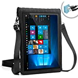 """12 Inch Tablet Case by USA Gear with Touch Screen & Adjustable Shoulder Sling / Display Strap - Works with Samsung Galaxy Book 12 & More 12"""" Tablets"""