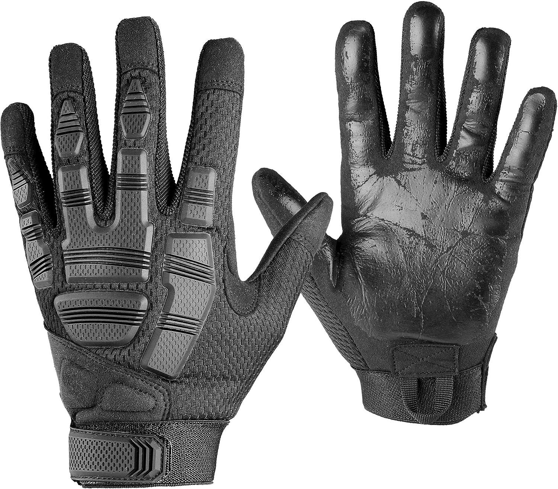 AXBXCX Camouflage Full Finger Outdoor Gloves for Men 91ZjquKGgPL