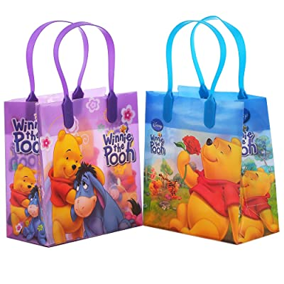 Disney Winnie the Pooh Party Favor Goodie Small Gift Bags 12: Kitchen & Dining