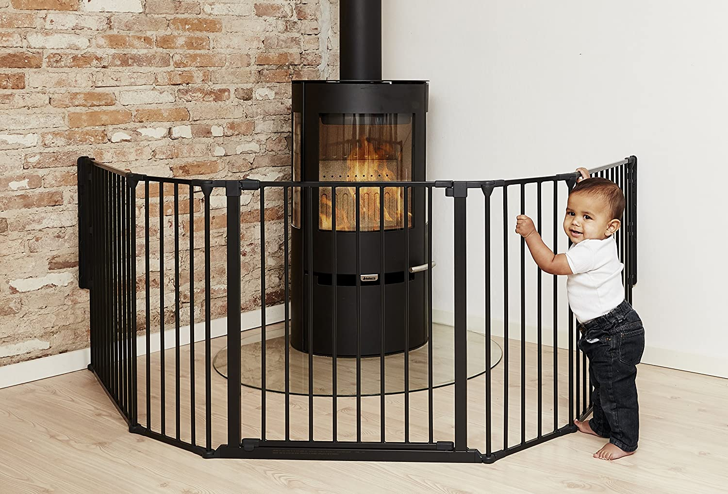 babydan hearth gate room divider extra large black amazon co