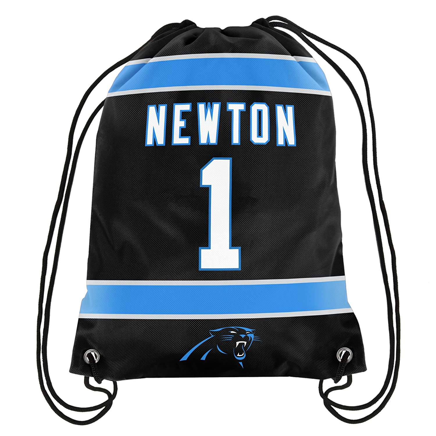... Amazon.com Cam Newton 1 Carolina Panthers Jersey Back PackSack  Drawstring gym Bag NFL- ... 2030bef5c