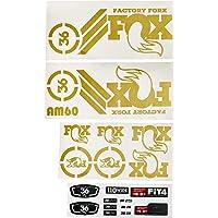 Ecoshirt 4G-EI1G-UAKS sticker Fork Fox 36 Am60 Gold