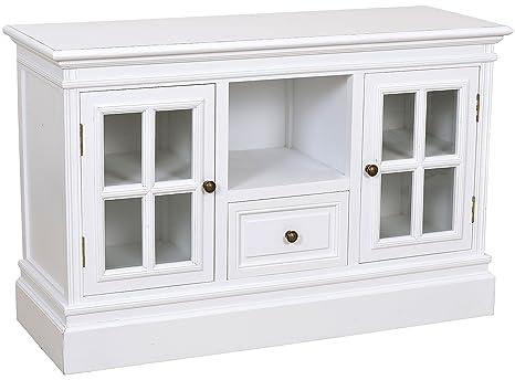 Cómoda con dos puertas de cristal y un cajón del armario de ...