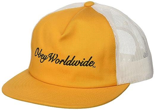 Obey Hombres 100500012 Gorra de béisbol - Dorado - Talla única ...