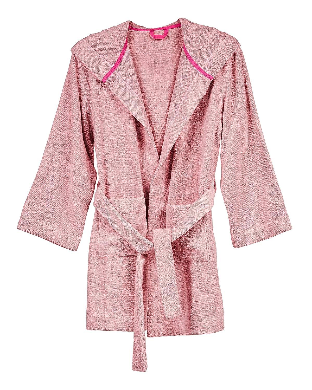 Luxurious /& Sustainable Hemp Girls Pink Hooded Hemp Bath /& Beach Robe