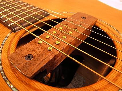 Madera de nogal ARTEC pastilla magnética para guitarra acústica tipo de 6 ó 12 cuerdas para