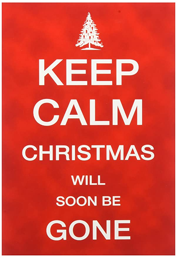 Amazon.com : B1492 Box Set of 12 \'Box of Keep Calm Christmas Be Gone ...