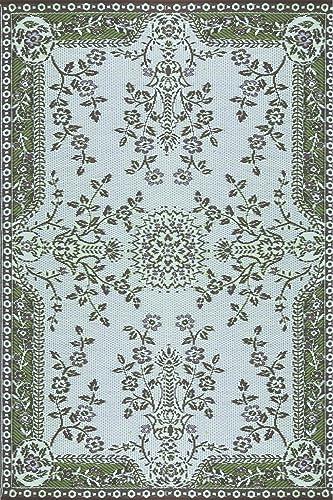Mad Mats Garland Indoor Outdoor Floor Mat, 5 by 8-Feet, Teal Brown