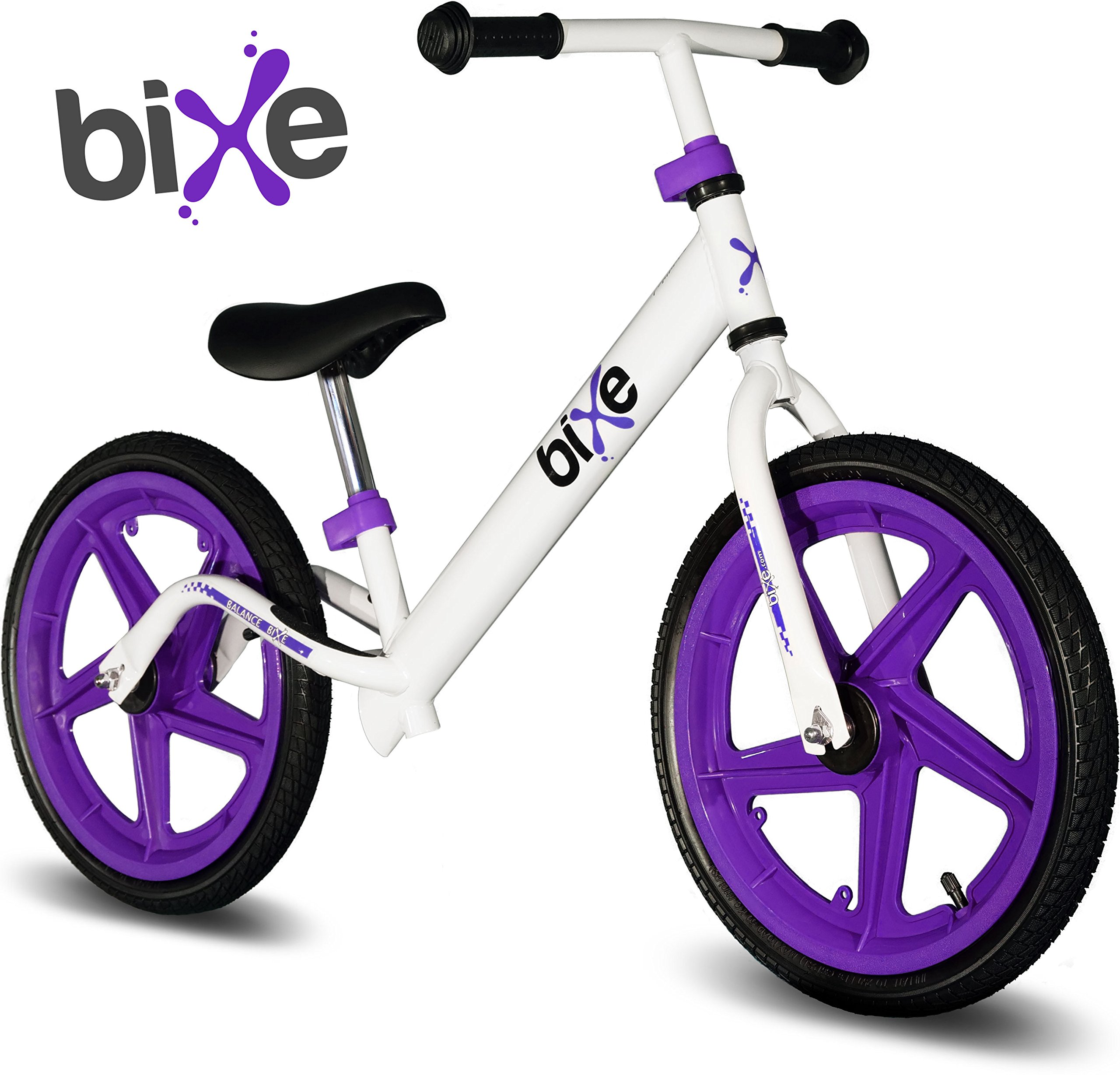 Balance Bike For Big Kids 5, 6, 7, 8 and 9 Years Old (Purple) Bixe 16 in