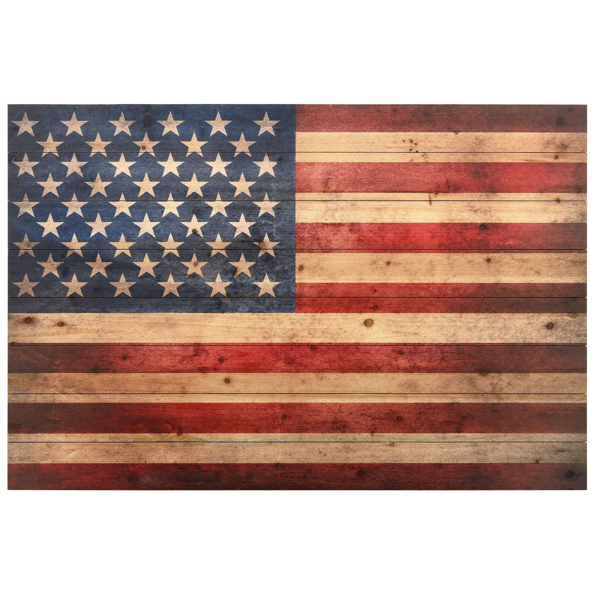 Empire Art Direct American Flag Digital Print on Solid Wood Wall Art 30'' x 45'' x 1.5'' Ready to Hang